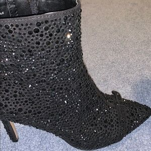 INC ankle sequins boots